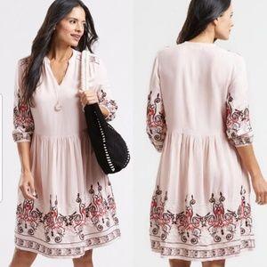 Dresses & Skirts - boho hippie Embroidered Kara peasant Swing dress
